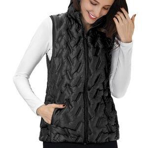 NWT Tangerine Puffy Filled Lightweight Vest